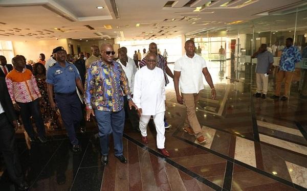 President-elect Akufo-Addo tours Flagstaff House
