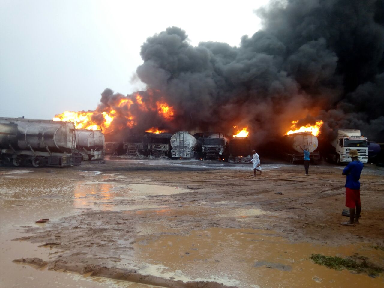 12 fuel tankers destroyed in Ashaiman Tanker Yard blaze