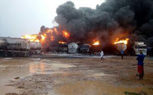 12 fuel tankers destroyed in Ashaiman Tanker Yard blaze